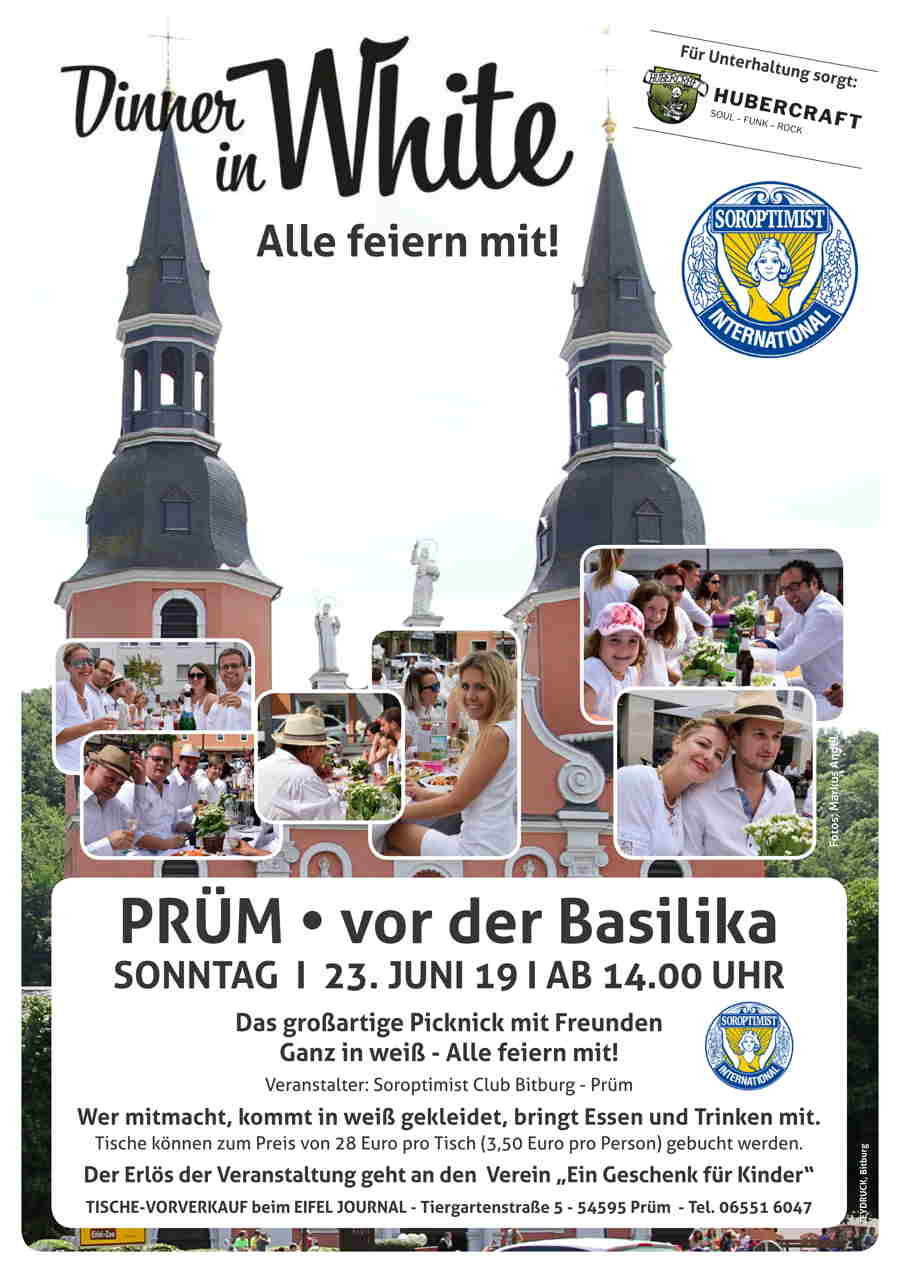 Soroptimisten Dinner in White Plakat low low
